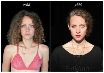 Kako se naš obraz spremeni od 7.00 zjutraj do 7.00 zvečer?