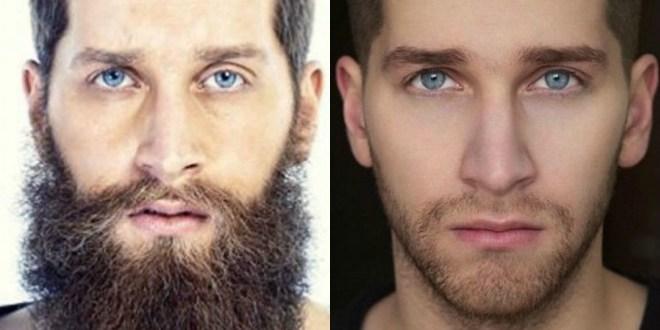 Moški z brado in brez