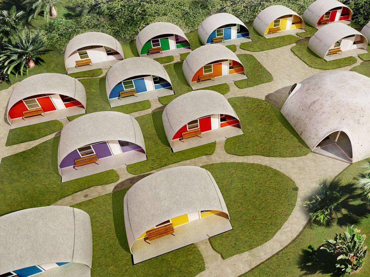 Betonske hiše v obliki kupole