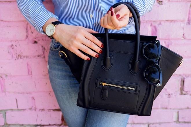 Pretežke torbice naj bi pritiskale na vaš hrbet, ramena in komolec.