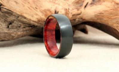 Cirkonijev prstan z lesenimi elementi, WedgewoodRings; 361,82 evra