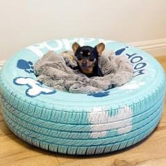 Postelja za hišnega ljubljenčka iz pnevmatike