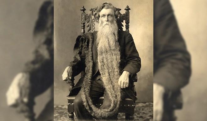 Norvežan Hans Langseth in njegova brada