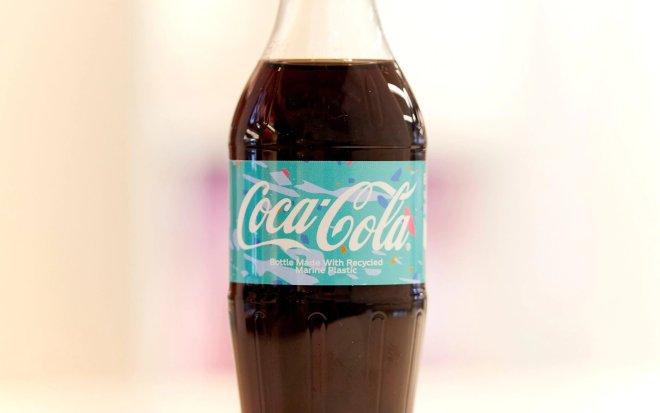 Steklenica je narejena iz morskih odpadkov.