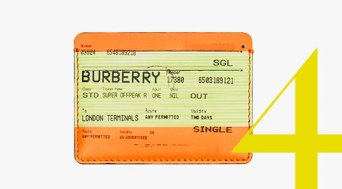 Denarnica za vizitke Burberry v videzu karte za vlak