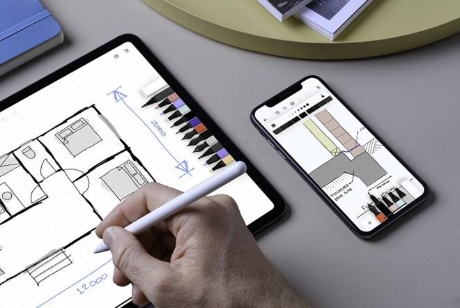 Aplikacije Flow by Moleskine, namenjena ustvarjanju skic in risb