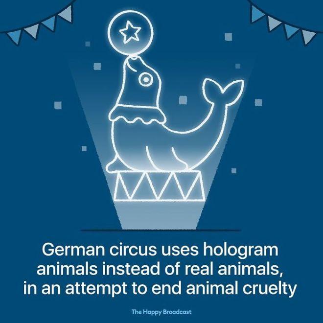 Nemški cirkus je namesto pravih živali začel uporabljati holograme.