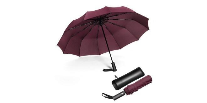 Trpežni zložljiv dežnik Jiguoor