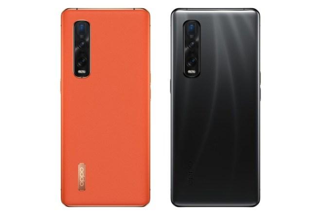 Pametni telefon Oppo Find X2 Pro v oranžni in črni barvi