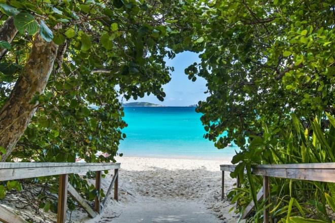 Trunk Bay, Saint John, Karibsko morje