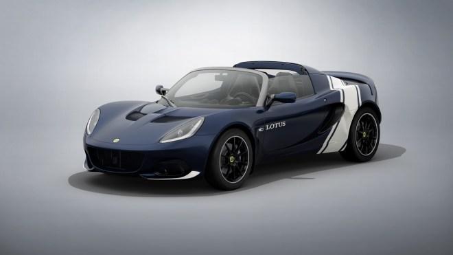 Lotus Elise Classic Heritage v modri in beli