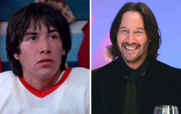 Keanu Reeves v filmu Youngblood (1986) in v Always be my maybe (2019).