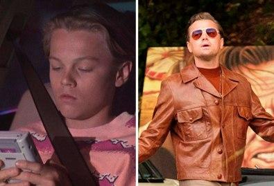 Leonardo DiCaprio v filmu Kuštravci 3 (1991) in v Bilo je nekoč v Hollywoodu (2019).