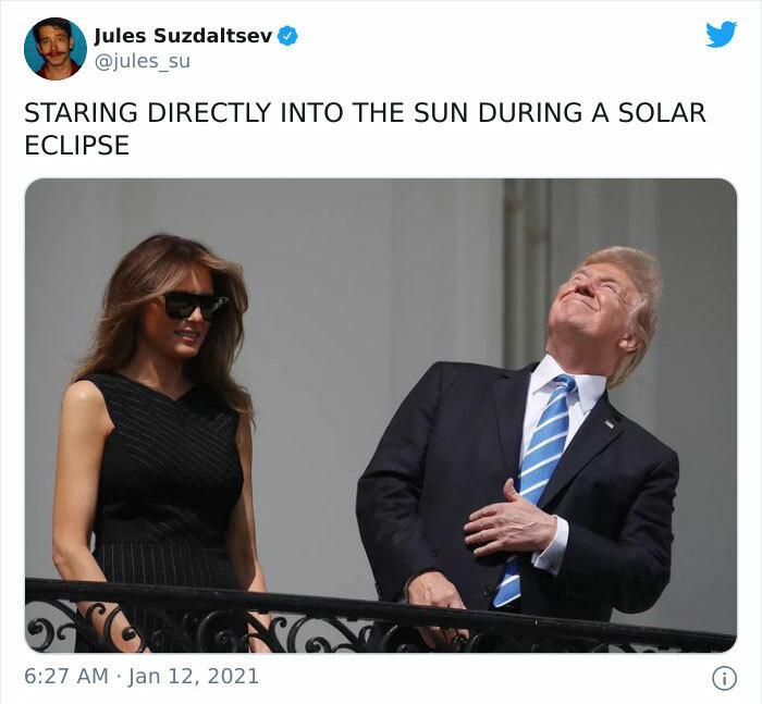 Strmenje naravnost v sončni mrk