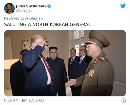 Salutiranje severnokorejskemu generalu