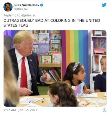 Izjemno slabo barvanje ameriške zastave
