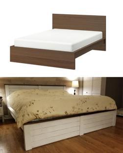 """""""Sam se predelal posteljo v rustikalni slog. Kaj menite?"""" Foto: Boredpanda"""