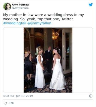Ko se v poročno obleko obleče tudi tašča … / Foto: Reddit