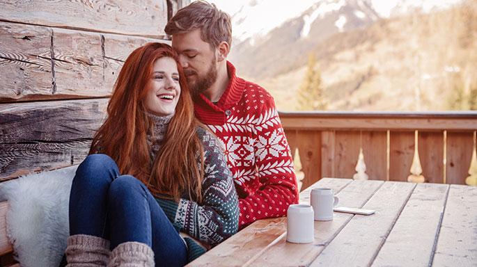 Par på hytte