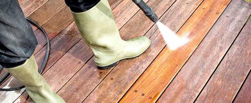 hvordan vaske terrassen