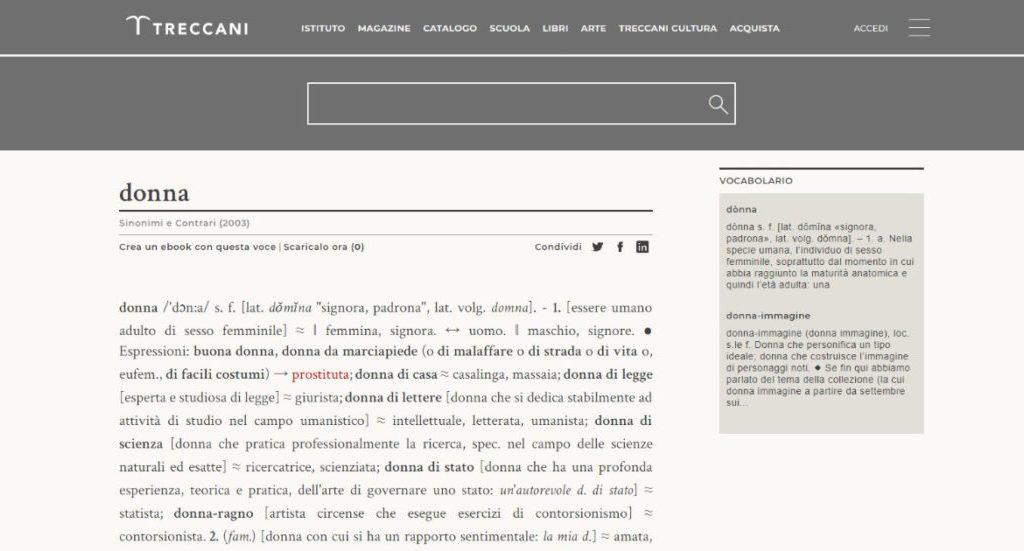 """la-treccani-cancella-i-sinonimi-offensivi-della-parola-""""donna"""".-la-vittoria-di-100-attiviste-per-un-cambiamento-culturale"""