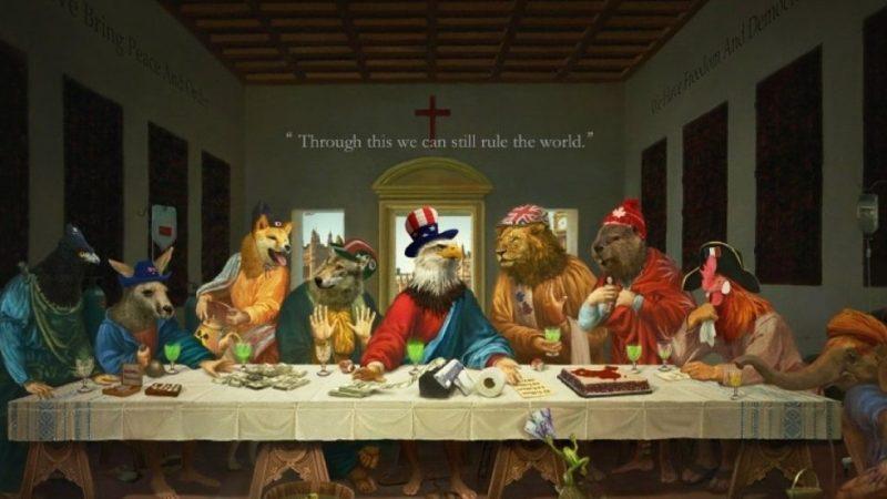 il-g7-visto-da-pechino:-vignetta-con-l'ultima-cena-in-cui-ci-si-spartisce-la-cina.-ma-nel-disegno-si-evidenziano-le-divisioni-del-gruppo