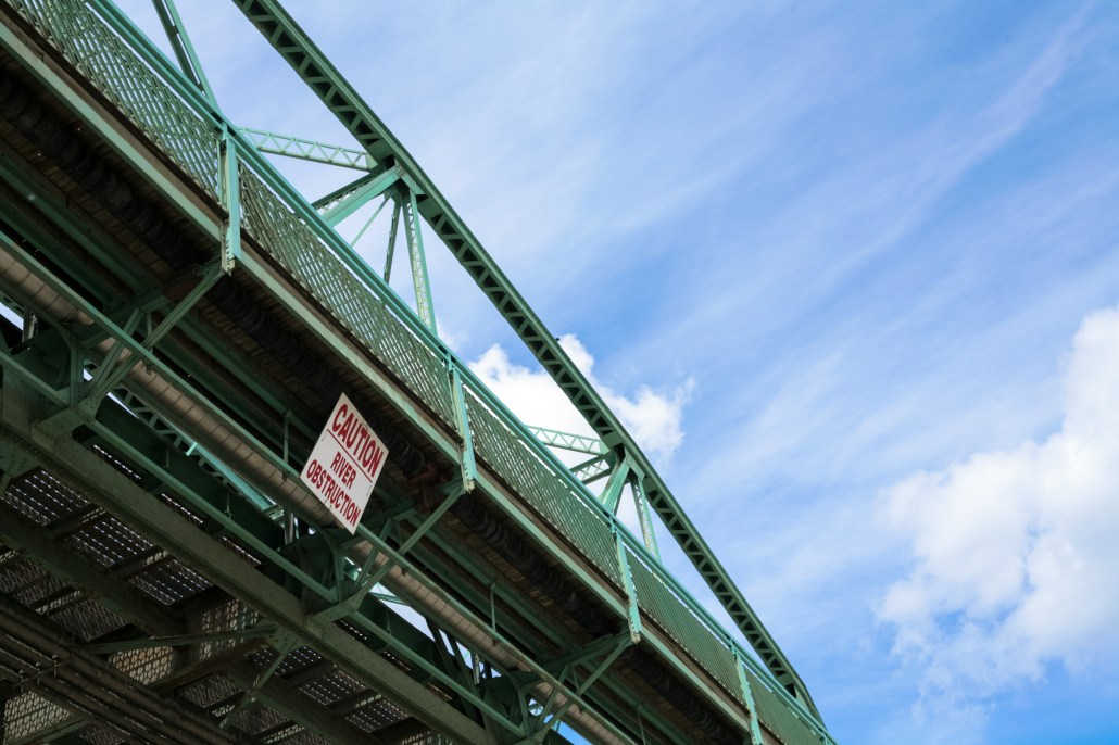 Signage on the Walterdale Bridge