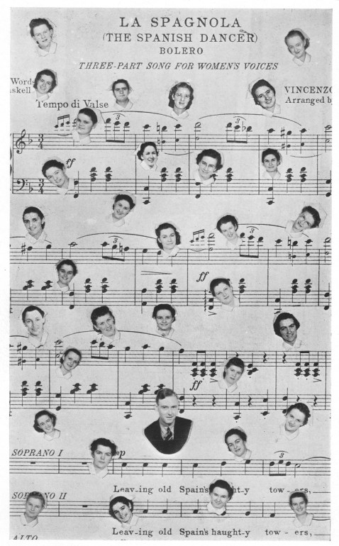 Sheet music with a twist in the 1940 yearbook