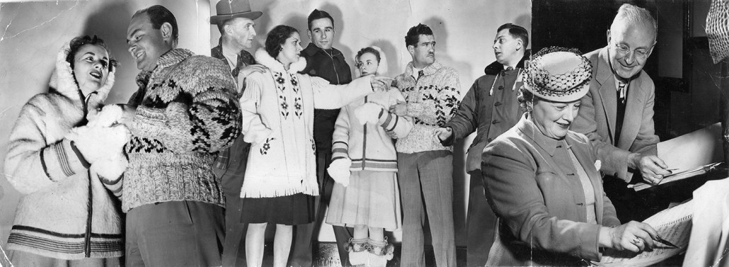 Cast of 'Rose Marie' featuring Beatrice Carmichael and Irv Matthew. Image courtesy of the City of Edmonton Archives EA-409-287.