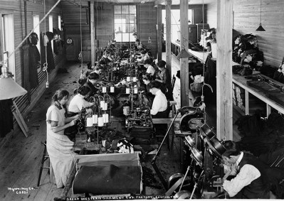 Great Western Garment Company Factory - Interior, circa 1913. Image courtesy of the City of Edmonton Archives EA-64-184