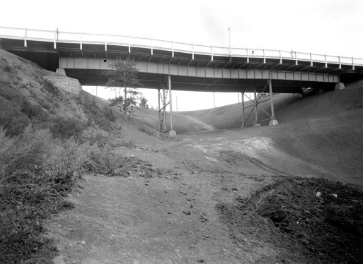 The Latta Bridge circa 1939. Image courtesy of the City of Edmonton Archives EA-75-880.