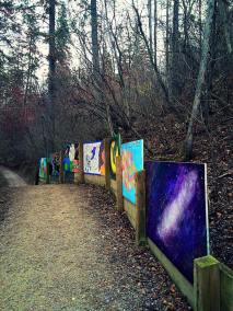 Image from the Kinnart Outdoor Art Exhibit. Photo courtesy of Alison Mould - City of Edmonton Parks (https://www.facebook.com/cityofedmontonparks/)