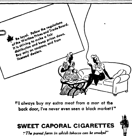 Advertisement from The Gateway, February 4, 1944, Page 4, Item Ar00406. Image courtesy of Peel's Prairie Provinces, a digital initiative of the University of Alberta Libraries.