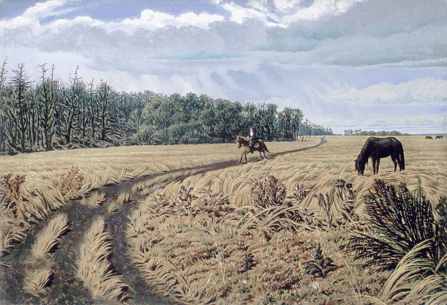 """A Prairie road/Une route des Prairies"". Original art by William Hind c. 1862. William George Richardson Hind collection. Library and Archives Canada, C-013967. Creative Commons License - https://flic.kr/p/pe7C3z"