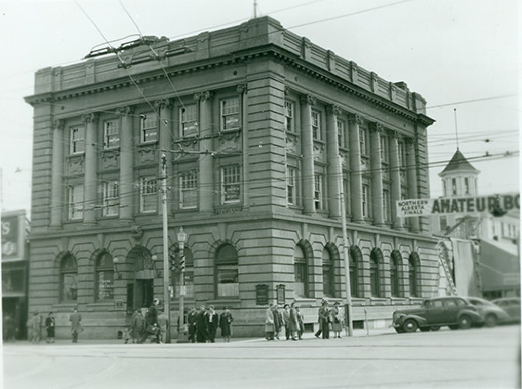 Bank of Montreal, 1952. City of Edmonton Archives, EA-10-286