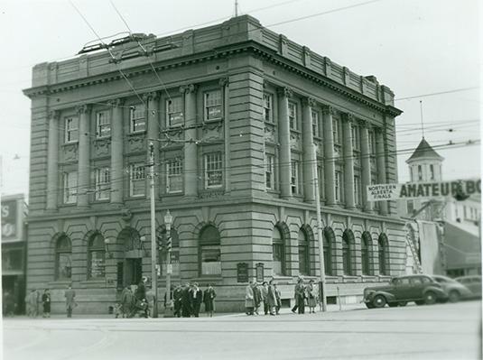Bank of Montreal, 1952. City of Edmonton Archives, EA-10-286