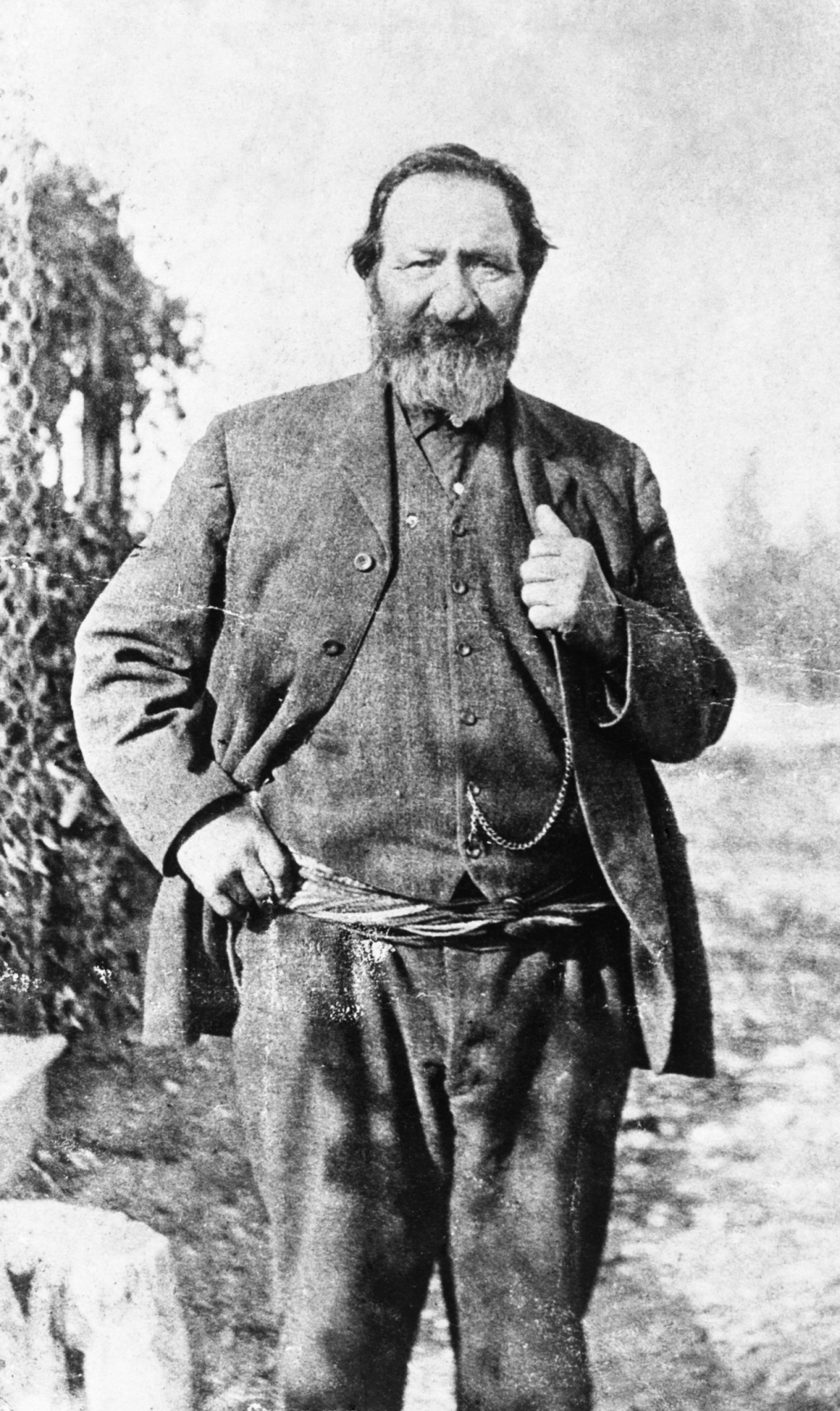 Peter Erasmus, Metis. Alberta c 1890. Born June 7th 1833 at Red River settlement, son of Danish father and Metis mother. Studied for Anglican ministry then acted as guide, interpreter, gold miner, hunter, and free trader. From 1908-1911 was Assistant Issuer on the Blackfoot reserve, southern Alberta. Died at Whitefish Lake, May 27, 1931. Image courtesy of the Glenbow Archives, na-3148-1.