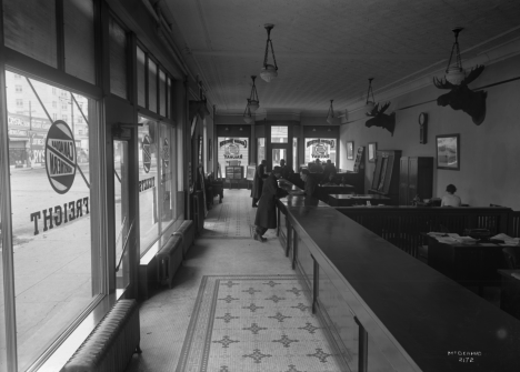 Canadian Northern Railway booking office, 1916. Glenbow Archives, NC-6-2172.
