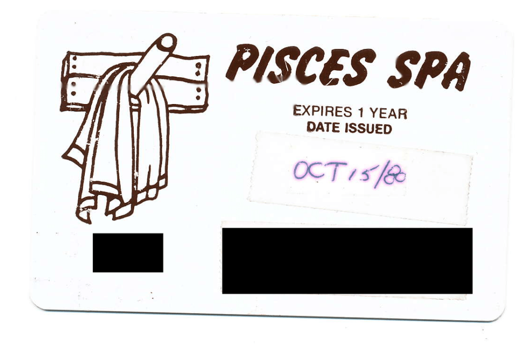 Pisces Spa Membership Card. ©2015 Anonymous. Do Not Reproduce.