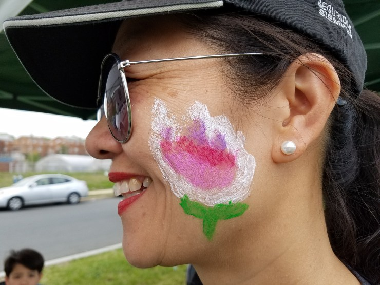 Face painting at Fort Totten event