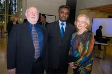 Allan J Jones, Ethiopian ambassador Arega Hailu Teffera and Diane Jones