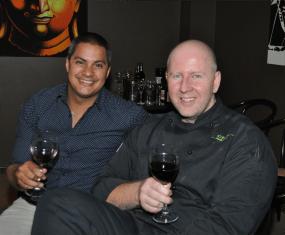 Tyron Zappia and Soju Girl chef Derek Brown