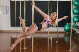 Pole dancing instructor Zoe Featonby. Photo by Andrew Finch.