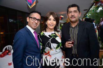 Santiago Ballina, Blanca Mejia and Crisoforo Martinez