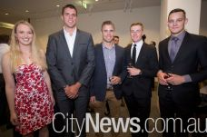 Rose Anderson, Ian Thomson, Rob Taylor, Trent Leech and Joshua Nitschke