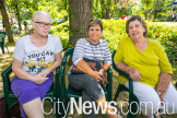 Christine Yardley, Tess Degroot and Maureen Connely from the Marymead Grandparent's Group