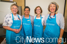 Monica Cossart, Marguerite Wiseman, Judy McMahon and Sue Claughton