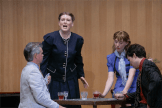 """Samuel Barber's short opera, """"A Hand of Bridge""""... An evening of card playing by two unhappily married couples, the opera shows the dark thoughts of the people at the table.Photo by Peter Hislop"""