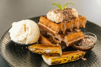 Maple + Clove's banana waffles.