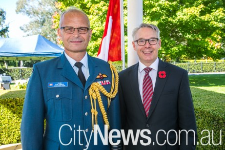 Col. Ron Ubbens and Canadian high commissioner Paul Maddison